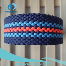 Color stripe popular PP webbing for bag belt