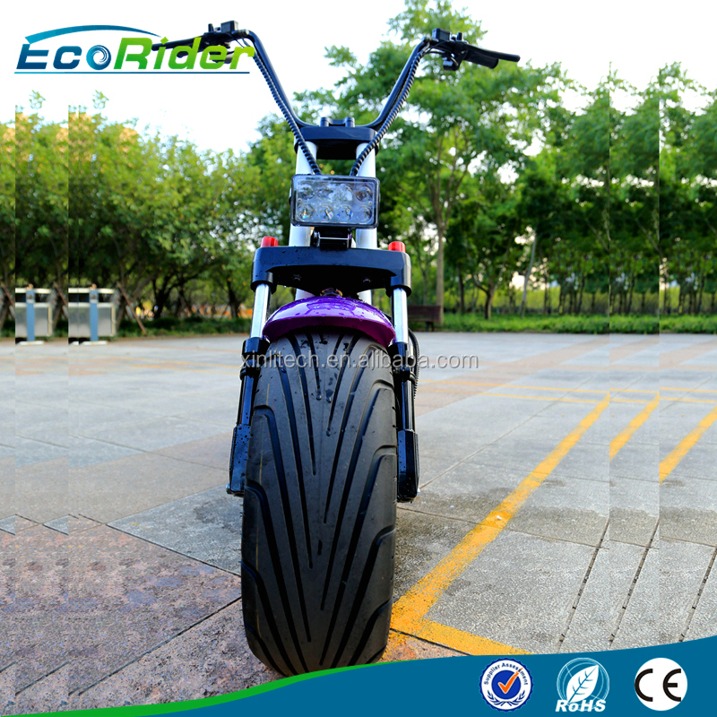 60v 1000w fat tire electric scooter electric motorcycle with brushless motor and double battery