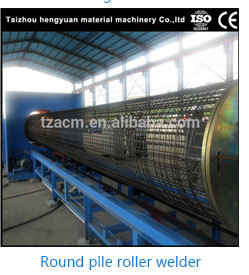 Auto concrete spun pile/pole steel button heading machine