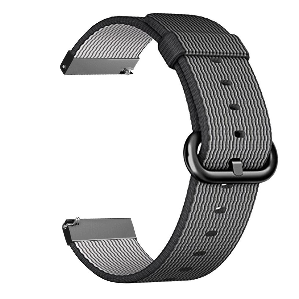 Gear S3 Frontier / Classic Watch Band, Fintie 22mm Soft Woven Nylon Lightweight Adjustable Replacement Strap Wrist Bands for Samsung Gear S3 Classic / S3 Frontier Smartwatch - Black