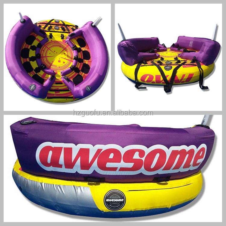 新デザインの商用グレードインフレータブル水スキー UFO けん引可能な水スポーツ