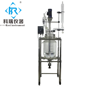 Lab Glass cylinder reactor agitator types with reaction vessel manufacturers