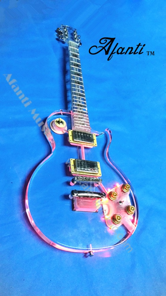 Afanti Acrylic LED light Electric Guitar (AAG-012)