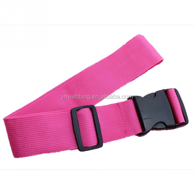 pink Adjustable Nylon Lock Travel Luggage Straps Belt Protective Travel Accessories Suitcase Packing Belt