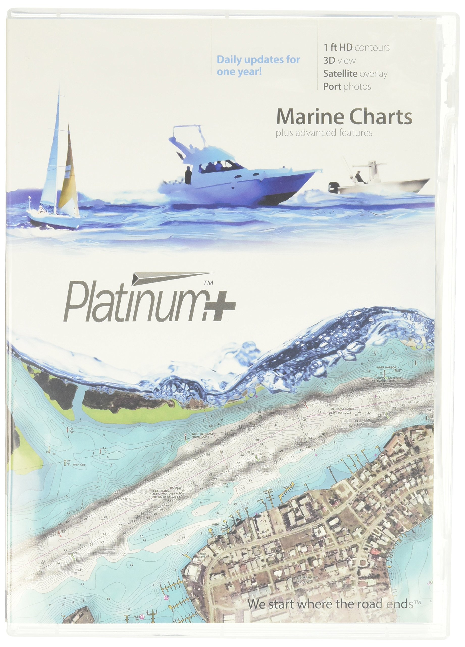Navionics Platinum+ SD 905 US MID Atlantic & Canyons Nautical Chart on SD/Micro-SD Card - MSD/905P+