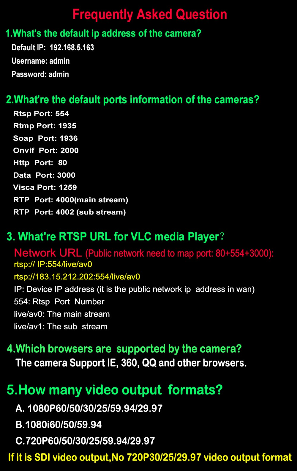 White Color 2 0MP Full-HD Video Meeting Camera HDSDI DVI IP