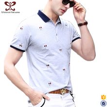 2017 Fashion Premium 100% Cotton Label Polo t shirts Printing Wholesale Men's Screen Printed Custom t shirt in Bulk