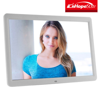 Large 15 Inch Rohs Digital Photo Frame With Built-in Lithium Battery ...