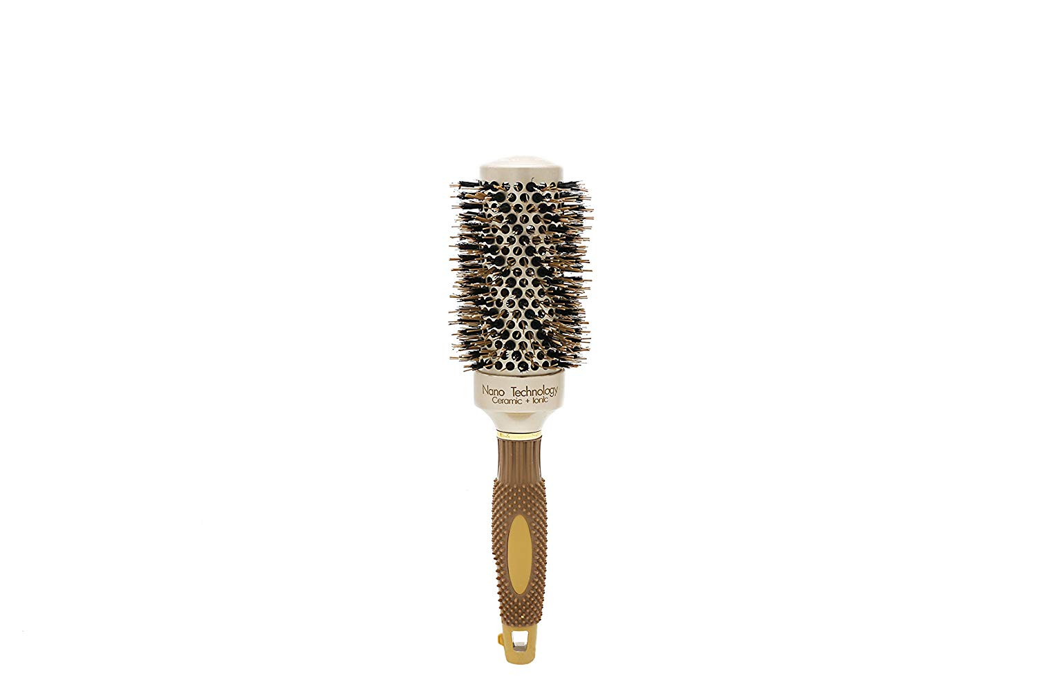 [Round Hair Brush Ceramic] Salon Ceramic Ionic Hair Roller Brush Nano Thermal Hair Styling Round Comb High Temperature Resistan (3)