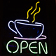 multicolor cafe neon led flex stripe light bar open sign for coffee shop