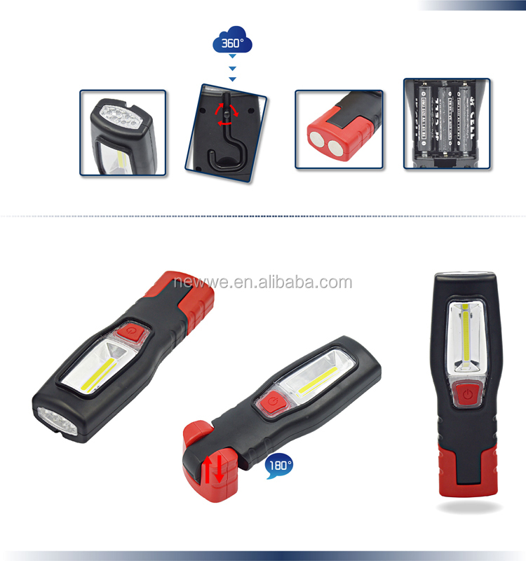 6 Led Torch + 3w Cob Led Rechargeable Blue Point Led Work Light ...