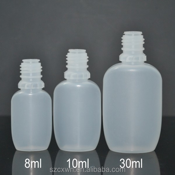 clear white black PE plastic oval liquid dropper bottle 8ml 10ml 15ml 30ml