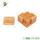 Fancy 6pcs solid bamboo wooden cup mats for coffee / tea