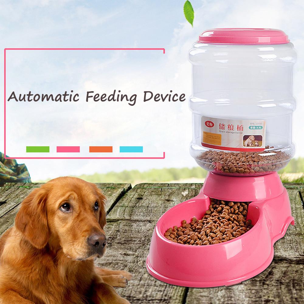 3.5L gran automática de perro mascota de fuente de agua para perros, gatos, de perro de plástico comida mascotas dispensador de agua