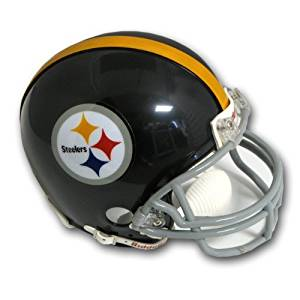 Pittsburgh Steelers (1963-76) Miniature Replica NFL Throwback Helmet w/2-Bar Mask by Riddell by Riddell