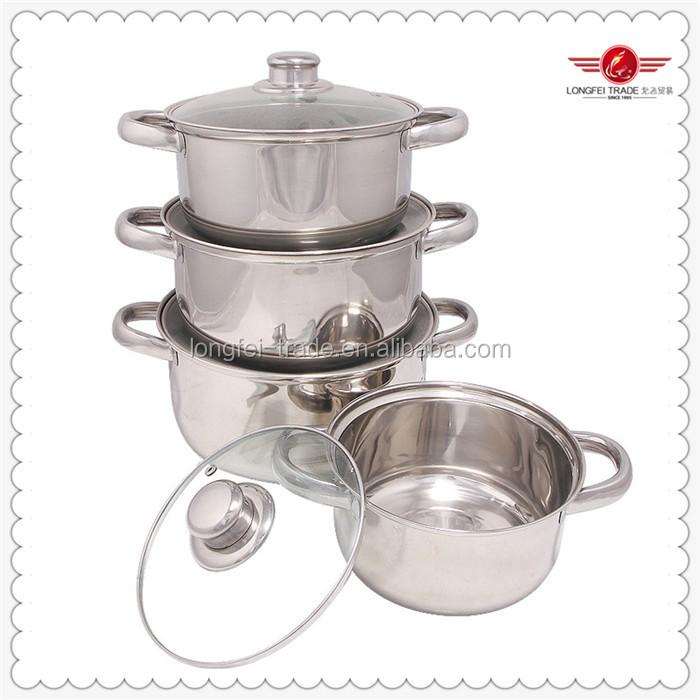 Biryani Cooking Pot Wholeale 555 Stainless Steel Stock Pot 16-24cm ...