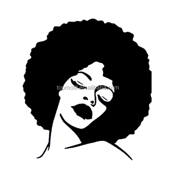 wholesale iron on Black Women Afro Girl Transfers for Garment designs