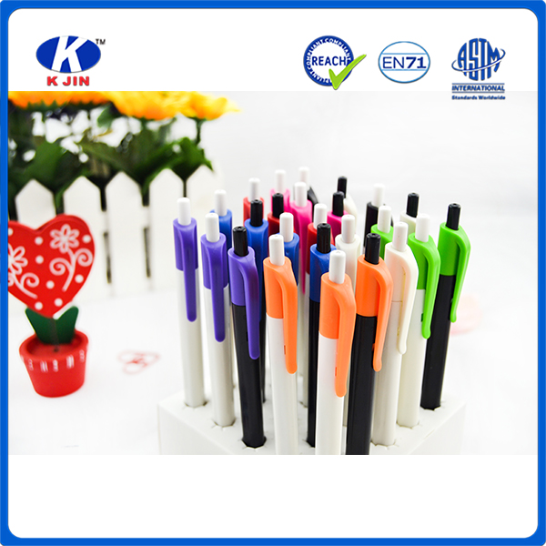 2016 Hot promotional decorative thin plastic ballpoint pen for office stationery