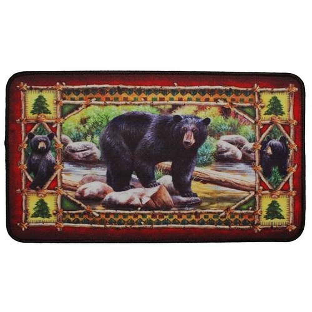 Shirley's Door Mats Custom River's Edge Products Bear Door Mat 23.6 X 15.7 Inch