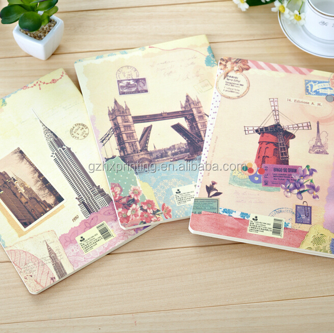 Cute Kawaii Cartoon Notebook Journal Mini Vintage Retro Exercise Book for Kids Stationery