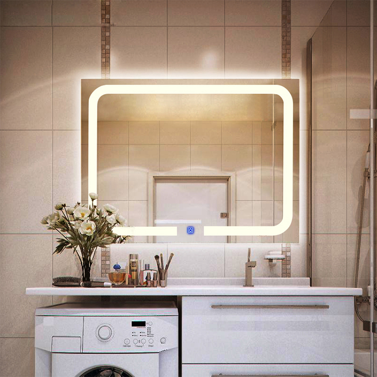 Touch Screen Led Bathroom Mirror Attached Light Product On