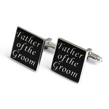 Black Color Cuff Link Father of the Groom Best Man Usher Wedding Cufflinks Gift