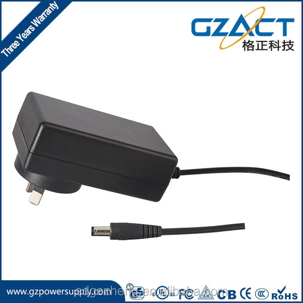 Wall plug 12v 3a DC power adapter US plug with CE UL GS SAA FCC approval for United State market
