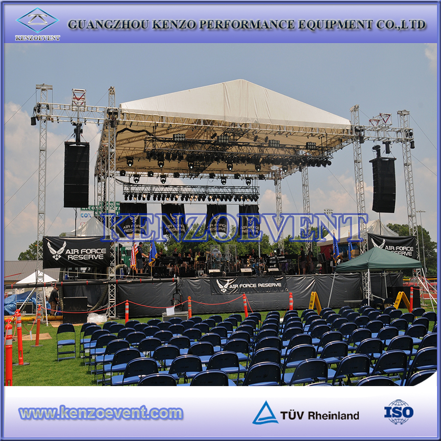 Aluminum outdoor stage roof truss cheap arched roof truss for Cheap truss systems