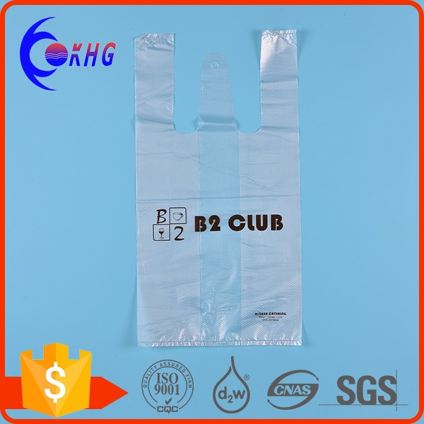 Cheap custom printed plastic biodegradable t shirt bags for Personalized t shirt bags
