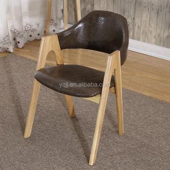 Bois Design Italien Bistro En Chaise Cuir De Bistrot