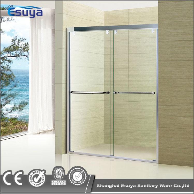 Hotel shower enclosure 3 panel sliding glass door frosted for 3 panel sliding glass door