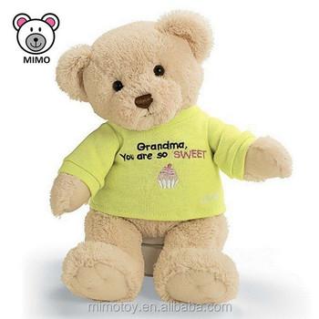Personalized Gift Stuffed Animal Soft Plush Teddy Bear T Shirts