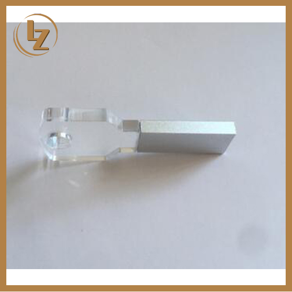 3D Laser Engrave Logo Custom Glass Crystal USB Flash Drive Key Shape