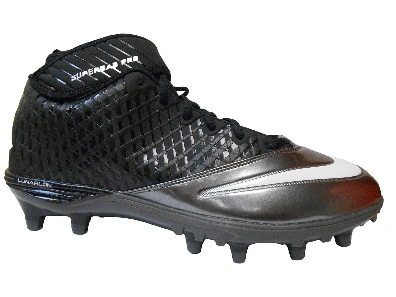 new arrival cfee6 cb0ab Nike Lunar Super Bad Pro TD Men s Molded Football Cleats (13.5,  Black Metallic