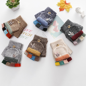 Warm winter gloves kids children cute lovely mittens hand gloves