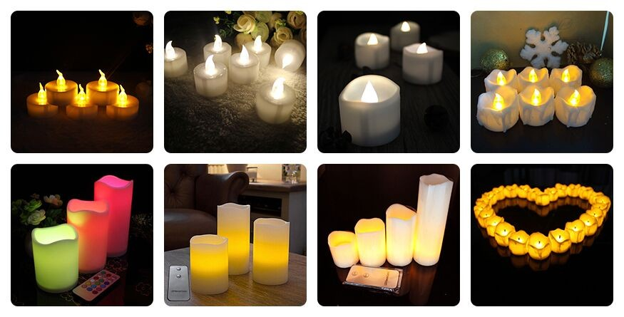2017 Hot Plastic/Wax Led Pillar Flameless Candle,Battery Led Candle
