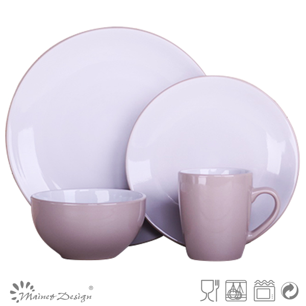 16 Stück Zweifarbig Porzellan Geschirrset Keramik Elegante Geschirr Set Für  Heißer Verkauf
