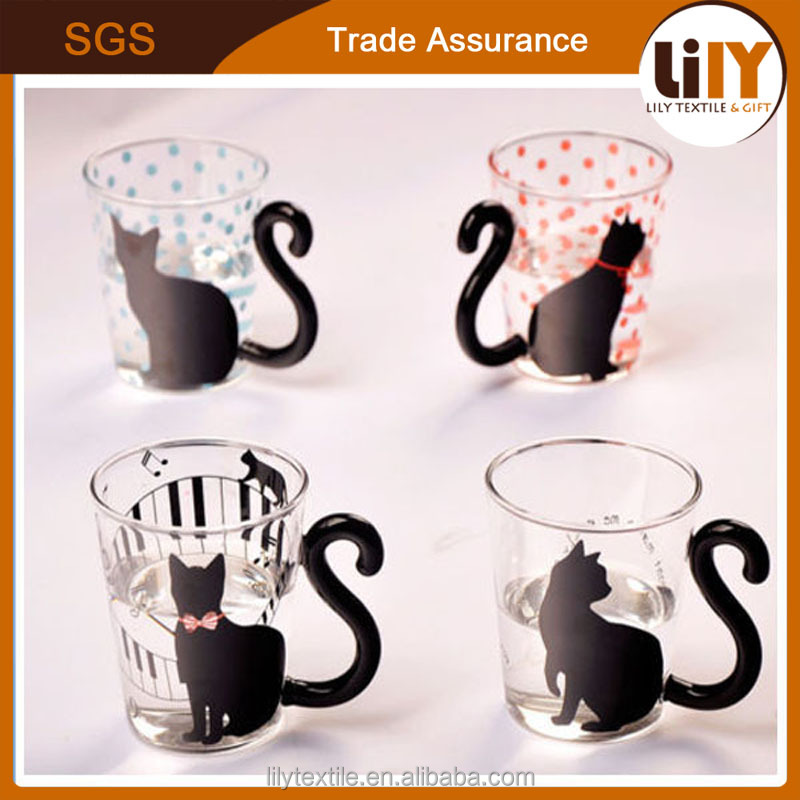 300ml Cute Funny Animal Glass Coffee Mugs Tea Cups With Handle For