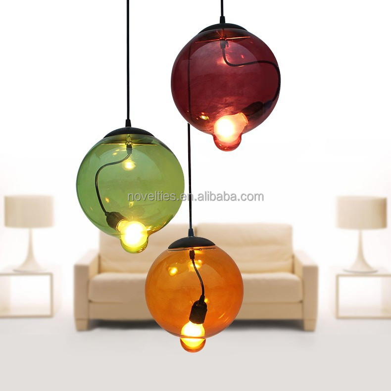 Modern Unique Simple Glass Bulb Indoor Lamp Hotel Restaurant Inn ...