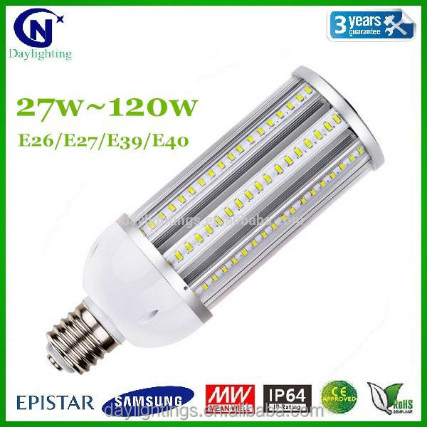 Aluminum body 27w ~ 120w dimmable led corn light <strong>bulb</strong>, led corn light