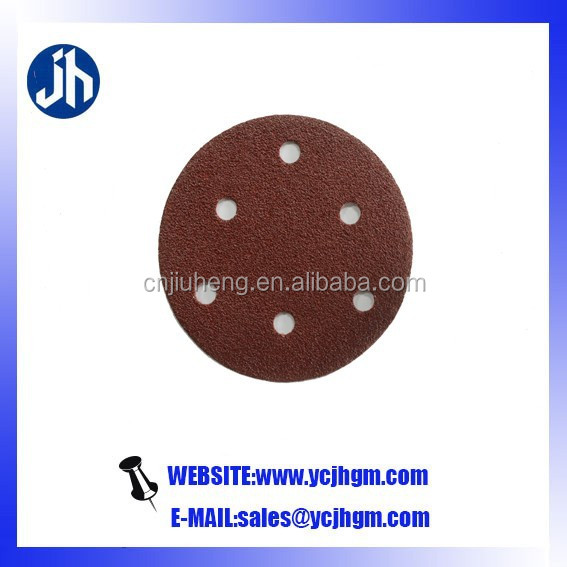 4 1/2 sanding discs for metal abrasive material metal discs hook and loop sandpaper