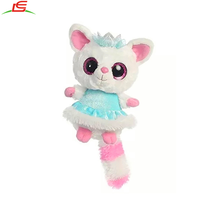"Wholesale customize cute OEM design soft stuffed 9"" beanie babies boos plush animal pop big eyes toy"