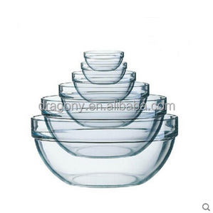 Microwave Oven Heat Resistant Clear Borosilicate Glass Salad Food Bowl