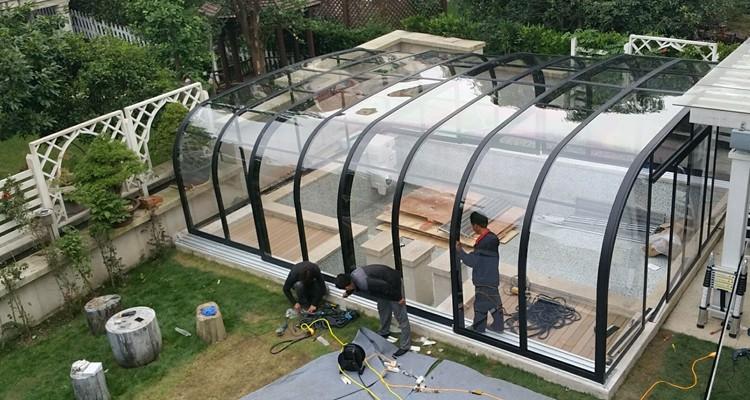 3x7m Alu Easy Sliding Inflatable Swimming Pool Enclosures Buy Inflatable Swimming Pool