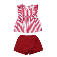 Wholesale children's boutique clothing baby girl summer outfit kids clothes set
