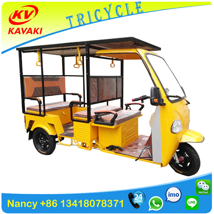 solar electric tricycle 60V1000W 32AH Passenger Taxi Rickshaw Battery Tricycle