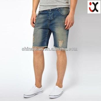 Fashion New Men Jeans Shorts Men Denim Shorts Denim Shorts With ...