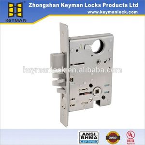Best price round bolt bottom rail lock door faceplate