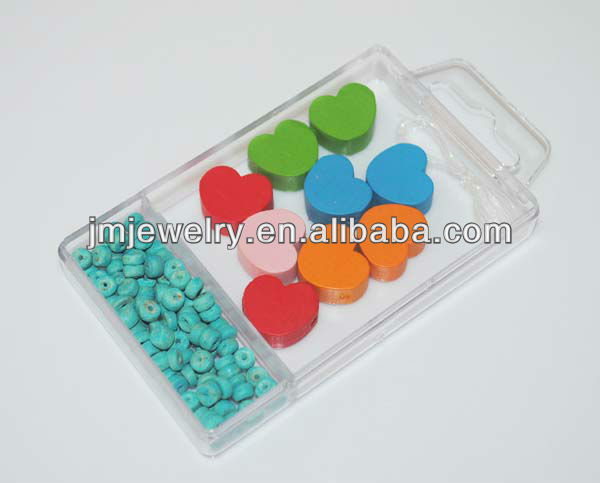 six color heart shape wooden beads set diy jewelry making set top quality wholesale jewelry toy for child J.M.R.D-680