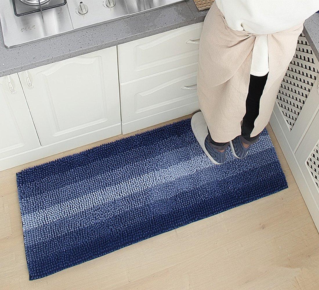 Kitchen Runner Rugs Washable.Buy Ustide Blue Stripe Washable Kitchen Runner Rugs Shaggy